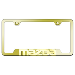 Au-TOMOTIVE GOLD | License Plate Covers and Frames | Mazda | AUGD7168