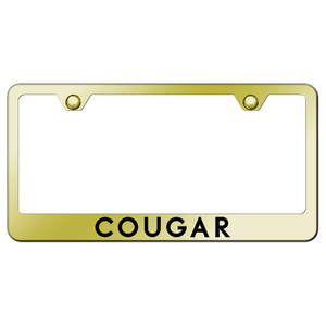 Au-TOMOTIVE GOLD | License Plate Covers and Frames | Mercury Cougar | AUGD7238
