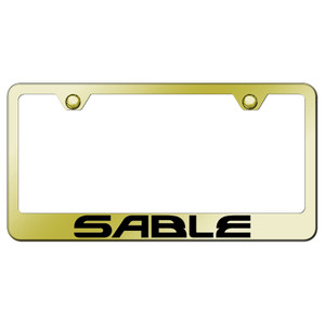 Au-TOMOTIVE GOLD | License Plate Covers and Frames | Mercury Sable | AUGD7241