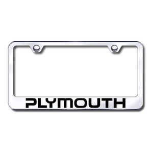 Au-TOMOTIVE GOLD | License Plate Covers and Frames | Plymouth | AUGD8156