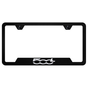 Au-TOMOTIVE GOLD | License Plate Covers and Frames | Fiat 500 | AUGD8387