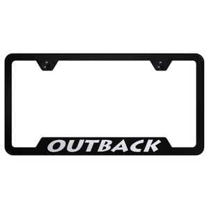 Au-TOMOTIVE GOLD | License Plate Covers and Frames | Subaru Outback | AUGD8394