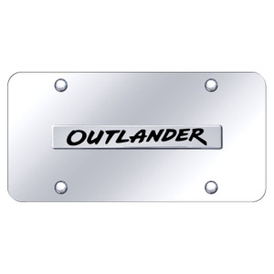 Au-TOMOTIVE GOLD | License Plate Covers and Frames | Mitsubishi Outlander | AUGD8479