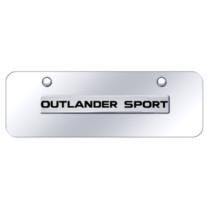 Au-TOMOTIVE GOLD | License Plate Covers and Frames | Mitsubishi Outlander | AUGD8481