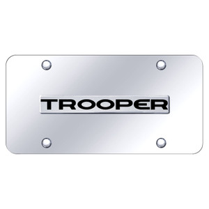 Au-TOMOTIVE GOLD | License Plate Covers and Frames | Isuzu Trooper | AUGD8504