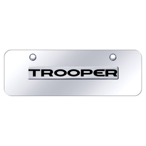 Au-TOMOTIVE GOLD | License Plate Covers and Frames | Isuzu Trooper | AUGD8505