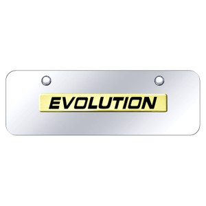 Au-TOMOTIVE GOLD | License Plate Covers and Frames | Mitsubishi Evolution | AUGD8532