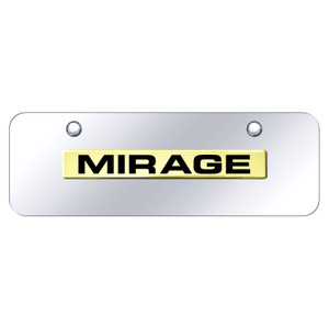Au-TOMOTIVE GOLD | License Plate Covers and Frames | Mitsubishi Mirage | AUGD8551