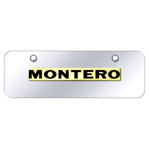 Au-TOMOTIVE GOLD | License Plate Covers and Frames | Mitsubishi Montero | AUGD8555