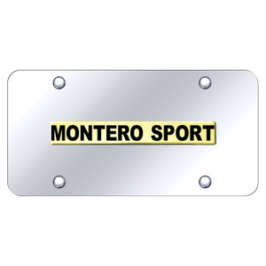 Au-TOMOTIVE GOLD | License Plate Covers and Frames | Mitsubishi Montero | AUGD8556