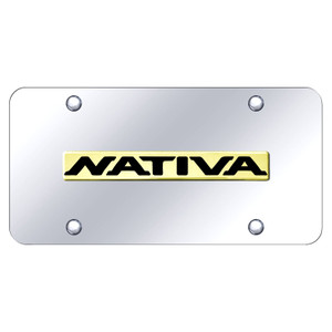 Au-TOMOTIVE GOLD | License Plate Covers and Frames | Mitsubishi Nativa | AUGD8557