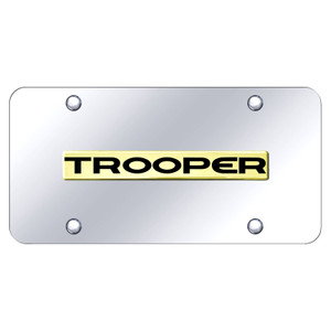 Au-TOMOTIVE GOLD | License Plate Covers and Frames | Isuzu Trooper | AUGD8585