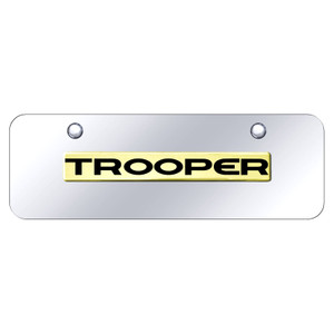 Au-TOMOTIVE GOLD | License Plate Covers and Frames | Isuzu Trooper | AUGD8586