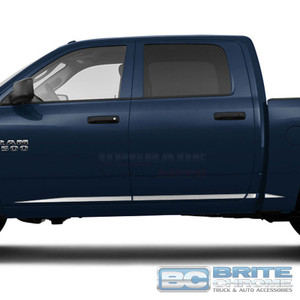 Brite Chrome | Side Molding and Rocker Panels | 09-17 Dodge Ram 1500 | BCIR090