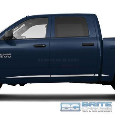 Brite Chrome | Side Molding and Rocker Panels | 09-17 Dodge Ram 1500 | BCIR090
