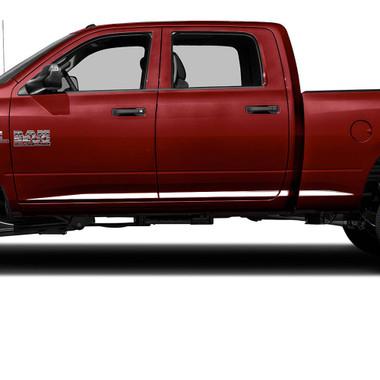 Brite Chrome   Side Molding and Rocker Panels   09-17 Dodge Ram HD   BCIR092
