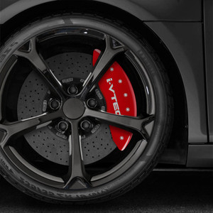 Set of 4 Caliper Covers with i-Vtec logo for 2017 Acura MDX by MGP