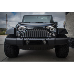 15pc Stainless Front Lower Grille Bars for 2007-2018 Wrangler w/Gladiator Grille