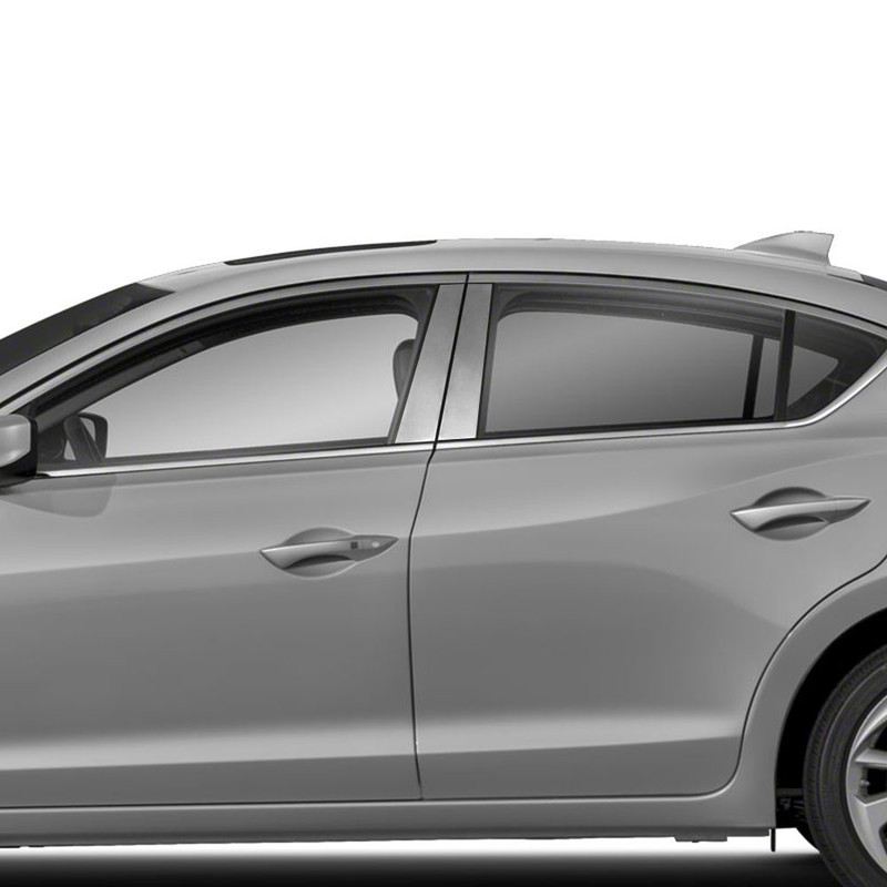 2013-2018 Acura RDX 6Pc Chrome Pillar Post Stainless Steel Trim Door Cover