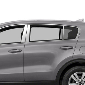 Auto Reflections 6pc Stainless Steel Pillar Post Covers for 2017-2018 Kia Sportage