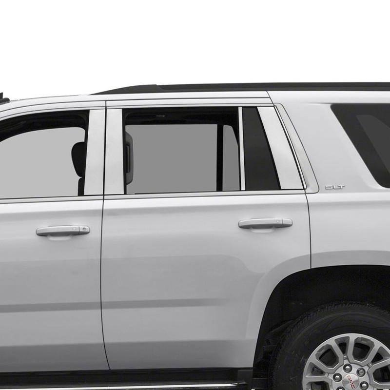 2015-2019 Chevy Suburban GMC Yukon XL 10pc STAINLESS STEEL Pillar Posts