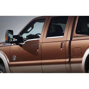 1999-2012 Ford F250/350 4dr. Crew Cab Chrome Window Sill Trim