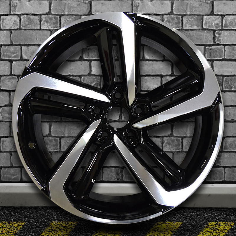 Honda Factory Rims >> 19x8 5 Factory Wheel Black Machined Bright Painted For 2018 Honda Accord