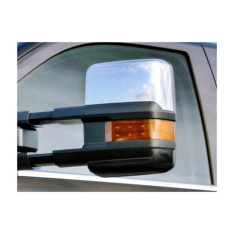 Full Mirror 2Pc Chrome Cover For Chevy Silverado 1500//2500//3500 2 Door Handle