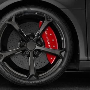 Caliper Covers Set of 4 Engraved 'Silverado' for 2019 Chevy Silverado 1500