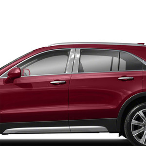 Diamond Grade 4p Stainless Steel Pillar Post Covers for 2019 Cadillac XT4