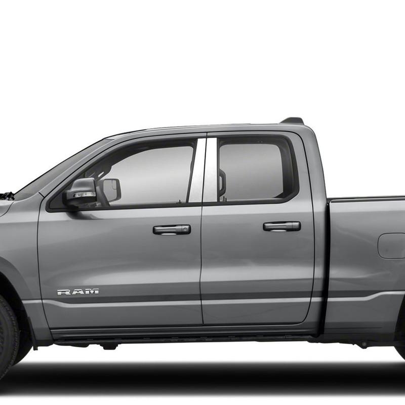 DODGE RAM 2019 CREW//QUAD CAB 1500 SHINY BLACK  PILLAR POST TRIM