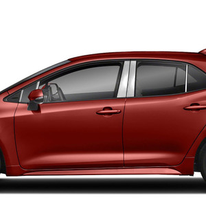 Diamond Grade 10pc Pillar Post Covers for 2019 Toyota Corolla Hatchback