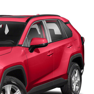 Diamond Grade 8p Stainless Steel Pillar Post Covers for 2019 Toyota Rav4