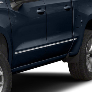 """Stainless Steel Body Side Molding Below Body Line for 2019-2021 Chevrolet Silverado 1500 Crew Cab 5'8"""" Bed 8 Pieces"""