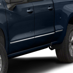 """Stainless Steel Body Side Molding Below Body Line for 2019-2021 Chevrolet Silverado 1500 Crew Cab 6'6"""" Bed 8 Pieces"""