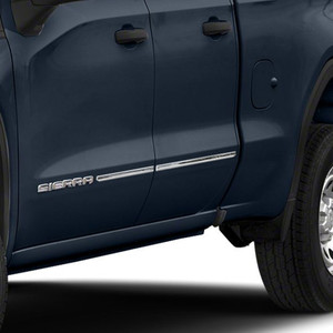 Stainless Steel Body Side Molding Below Body Line for 2019-2021 GMC Sierra 1500 Double Cab 4 Pieces