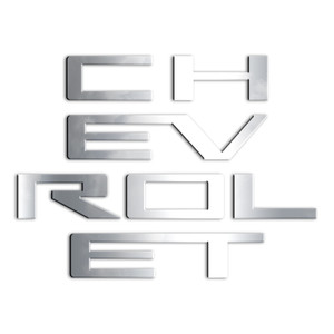 7pc. Luxury FX Tailgate Letter Insert for 2019-2020 Chevy Silverado 1500