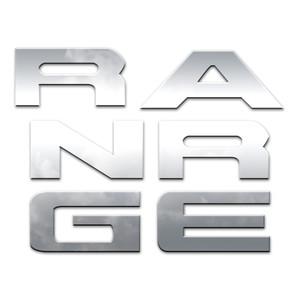 6pc. Luxury FX Tailgate Letter Insert Trim for 2019 Ford Ranger 4-door