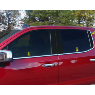 Luxury FX | Window Trim | 19 Chevrolet Silverado 1500 | LUXFX3881
