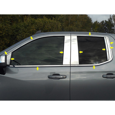 Luxury FX | Window Trim | 19-20 Chevrolet Silverado 1500 | LUXFX3910