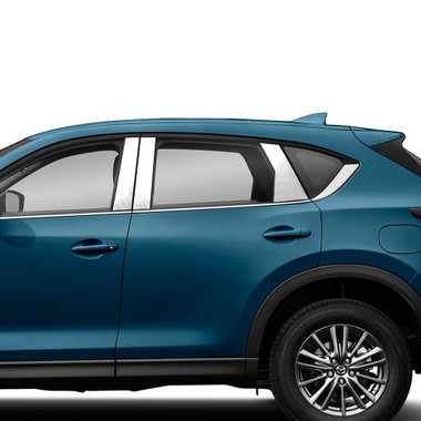 Brite Chrome | Pillar Post Covers and Trim | 17-20 Mazda CX-5 | BCIP345