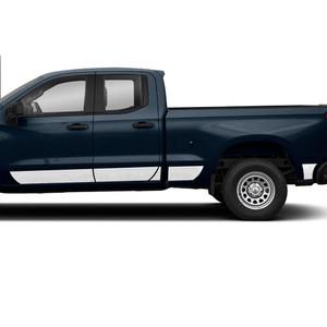 Diamond Grade | Side Molding and Rocker Panels | 19-20 Chevrolet Silverado 1500 | SRF1509