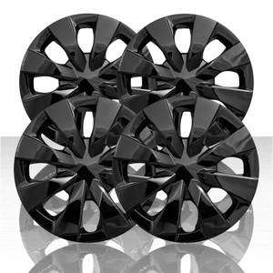 "Set of 4 15"" 8 Spoke Wheel Covers for 2020 Toyota Corolla - Gloss Black"