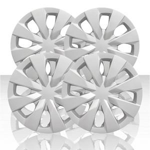 "Set of 4 15"" 8 Spoke Wheel Covers for 2020 Toyota Corolla - Silver"