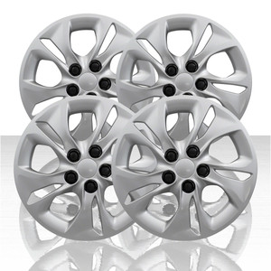 "Set of 4 15"" 5 Split Spoke Wheel Covers for 2018-2019 Chevy Cruze L - Silver"