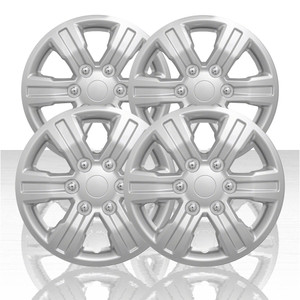 "Set of 4 16"" 6 Spoke Wheel Covers for 2019 Ford Ranger XL - Silver"