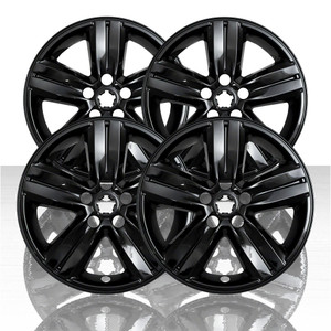 "Set of 4 16"" 5 Spoke Wheel Skins for 2017-2020 Chevy Trax - Gloss Black"