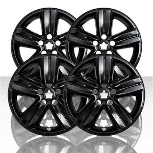 "Set of 4 16"" 5 Spoke Wheel Skins for 2017-2020 Chevy Trax - Gloss Black"