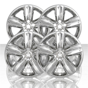 "Set of 4 16"" 5 Spoke Wheel Skins for 2017-2020 Chevy Trax - Chrome"
