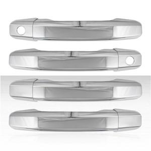 Set of 4 Door Handle Covers for 2019-2020 Sierra 1500 - Chrome w/o Smart Key